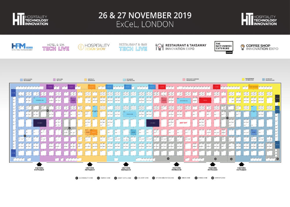 Restaurant & Takeaway Expo floorplan
